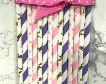 Unicorn, Party, Paper Straws, Party Supplies, Decorate