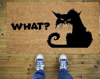Alle Besucher Mussen Genehmigt Werden Von Der Katze Fussmatte Etsy