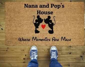 Nana and Pop's house doormat, Funny doormat, Coco doormat, Coir doormat, Welcome doormat, Hand painted doormat, Door mat, Nana, Pop's
