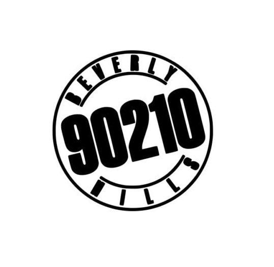 Beverly Hills 90210 Old School Logo Vinyl Decal