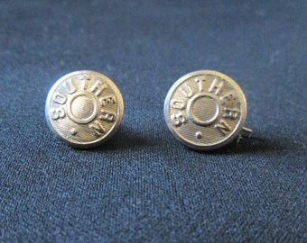2 Vintage Southern Pacific Railroad Buttons