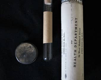 1930s Doctors Urine Medical Test Specimen Tube Kit Dr Munch 1890s to 1930s Chicago Original Rare Vintage