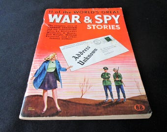 1944 11 Of The Worlds Great War and Spy Stories Book 95 Pages Vintage Original