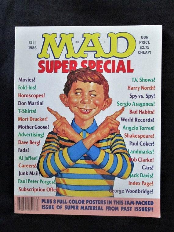 Mad Fall 1986 Super Special Magazine Vintage Humor Satire Etsy