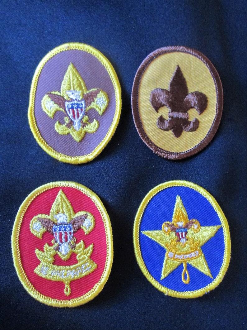 Boy Scout 2 Neckerchief Slides 4 BSA Insigna Vintage