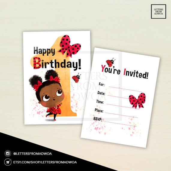 Invito Di Compleanno Amore Coccinella Etsy