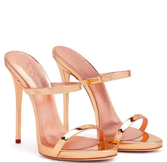 Sandals Heel Stilettos Gold High Mule c34Lq5ARj