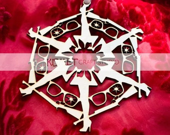 A Christmas Story Laser Cut Wood Snowflake Ornament