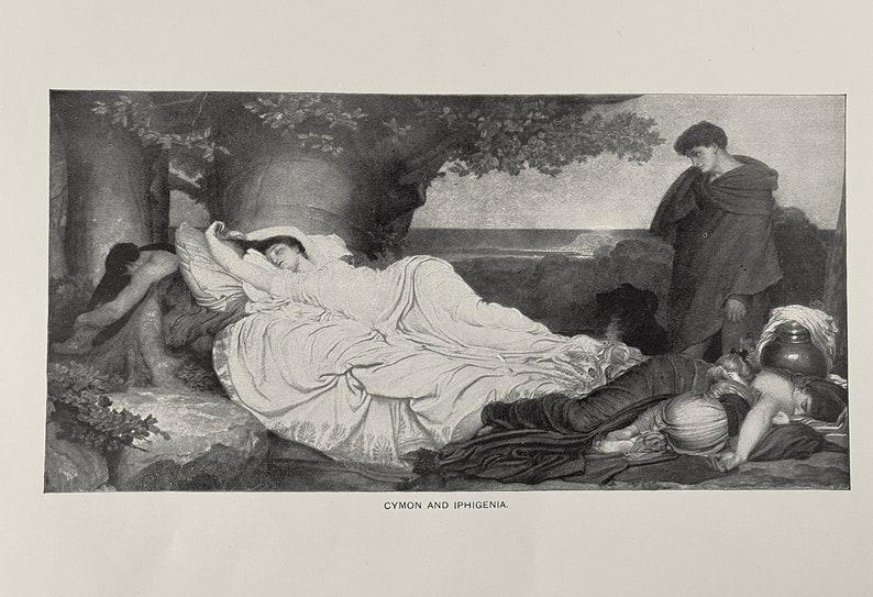 Set of 7 1892 Antique Italian and Spanish Literature Prints