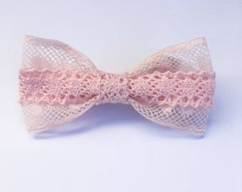 Pink bow, baby bow, hair accessories, baby accessories, baby pink bow, toddler bow, lace, ribbon