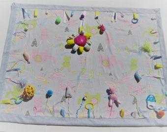 Tummy Time Blanket, Sensory blanket, Baby Shower present, Baby blanket, Tactile Quilt, Touch & Feel Mat, Tummy Time Activity Blanket, Baby