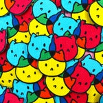 CMYKitties Cute CMYK Cat Iron-on Sew-on Embroidery Applique Patch