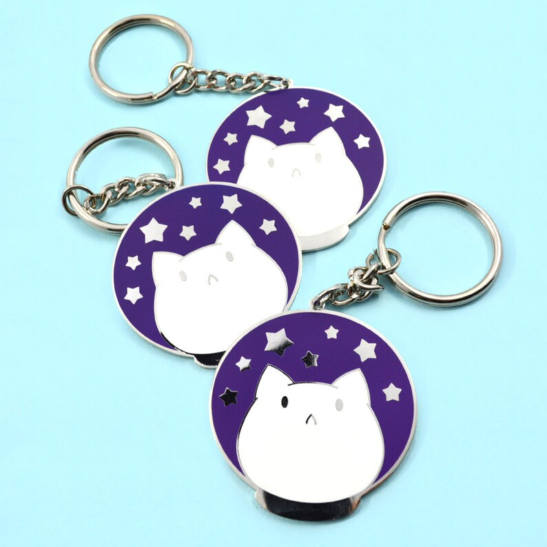 Astronaut Cat Astrocat in Space Cute Cat Hard Enamel Cute image 0