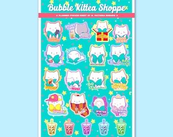 NEW! Bubble Kittea Paper Planner Sticker Sheet