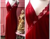 Vintage Ruby Red Floor Le...
