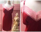 Vintage Plus Size Red & P...