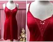 Sultry Red Vintage Slip N...