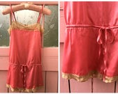 Vintage Pink and Tan Lace...