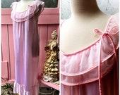 Retro Ruffled Pink in Pin...