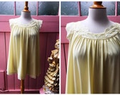 Sweet Vintage Yellow Lace...