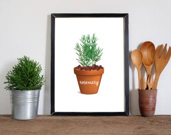Rosemary | Printable Kitchen Art