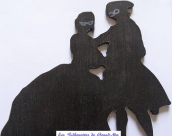Masked dancers, wooden wall decoration