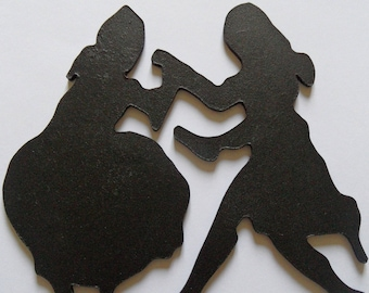 Dancing couple, model 1, wooden wall decoration