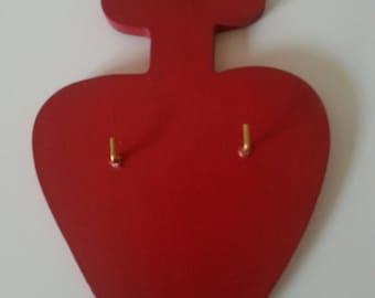 Chouan 6 or 10 mm wooden heart Keyring
