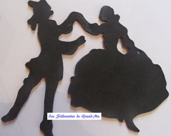 Dancing couple, model 2, wooden wall decoration