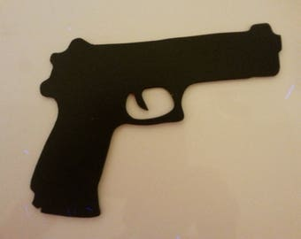gun in medium 3 mm, hand painted to make dream your little police grass
