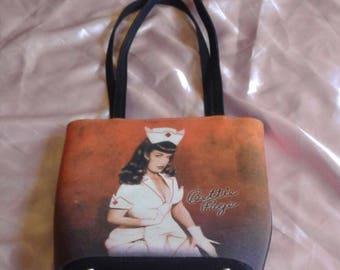 Rare Bettie Page Purse Handbag