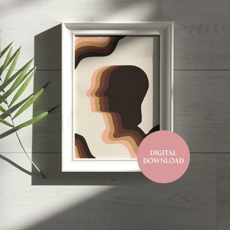 Human Silhouette Room Decor Art Print DIGITAL DOWNLOAD Wall Art