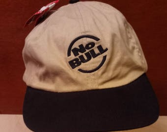 2f7fba18e5a Vtg. No Bull Winston Cigarettes Men s Beige and Black Adjustable Strap Back  Baseball Hat Cap