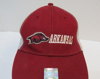 Arkansas Visor,Hog Fan,Khaki Visor,Red Graphic,Baseball Fan,Football Fan,Go Hogs,Razorback Apparel,Arkansas Fan Apparel,WPS