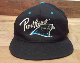 Vintage Team NFL Carolina Panthers Adjustable Snap Back Baseball Hat OSFM b14365c51