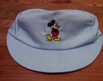 4a48505c777 Rare Vintage USA Made Powder Blue Disney Mickey Mouse Hat With Adjustable  Strap Back Fits Most Adult Heads!