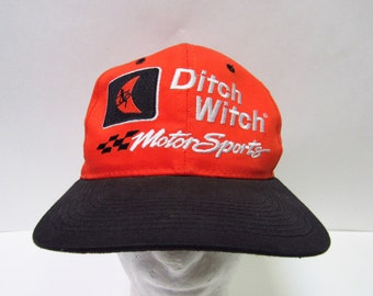 Vtg. Joe Gibbs Racing  18 Ditch Witch Motorsports Chase Nascar Hat Mens OSFM 741e22b5ad22