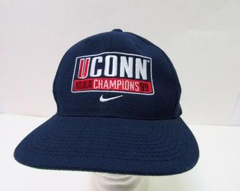 9378b0f14cd 1999 NCAA Basketball Champs UConn Huskies Snap Back Trucker Hat OSFM