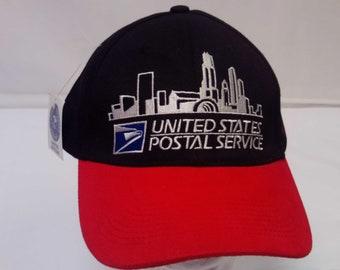 3e82b7e7df6 Vtg Limited Edition NWT United States Postal Service Chicago Adjustable  Strap Back Trucker Hat OSFM