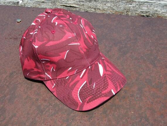 Late 90/'s New Era Red Floral Camo Men/'s Adjustable Strap Back Baseball Hat NOS New OSFM Vtg