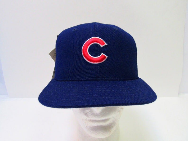 a85770bbc76 Vintage 80 s USA Made NOS MLB Chicago Cubs New Era Fitted