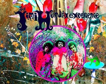 Jimi Hendrix Golden & Cobalt Blue, Dazzling Canvas Art Prints, Seattle Space Needle, Frog Balloons, Stunning Art Prints, Sale Free Shipping