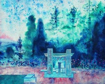Rose Garden, Portland Oregon Canvas Wall Art Prints, Washington Park Rose Garden, Portlandia, I Love Oregon, 24 x 36 Art, Sale Free Shipping