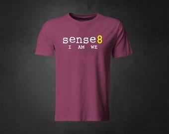 716b4f1ddf57 Sense8 - I Am We - Maroon T-Shirt - White   Yellow - Nomi - Kala - Wolfgang  - Lito - Capheus - Sun - Will - Riley -