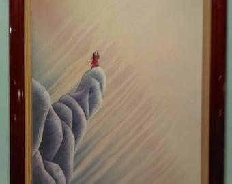"""Bill Rabbit Original Framed Painting """"Trust"""""""