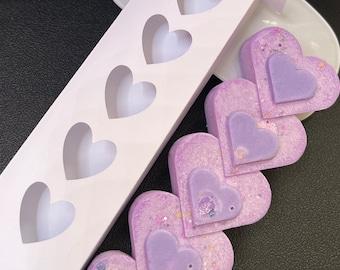 Set of Five Heart Snap Bar Box