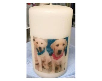 Personalised Pillar Candles