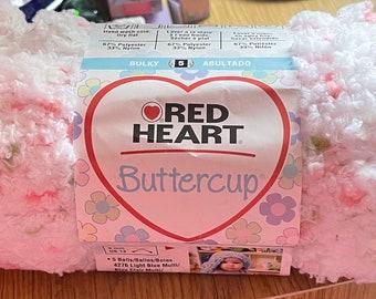 Red Heart Buttercup Cutie Pie  Knitting & Crochet Yarn - 4 Skeins