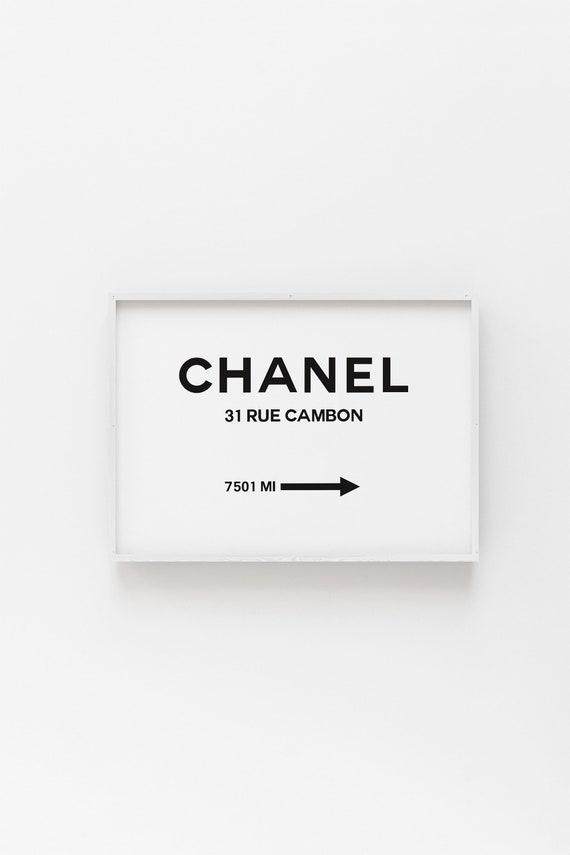incredible Coco Chanel Wall Art Part - 9: Coco Chanel Print Chanel Poster Coco Chanel Chanel Wall | Etsy