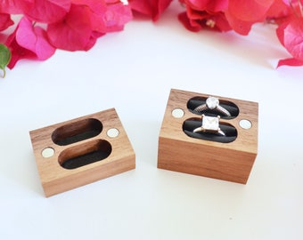 Double Ring Box / Wedding Ring Box / Ring Bearer Box - Magnetic
